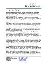 Versteigerungsbedingungen Objekte - Gorny & Mosch GmbH