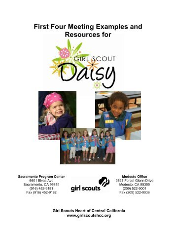 MEETING ONE - Girl Scouts Heart Of Central California