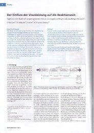 Der Einfluss der Visusleistung auf die Reaktionszeit - GLG ...