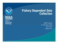 Fishery Dependent Data Collection