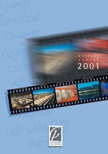 Rapport annuel 2001 - GL events