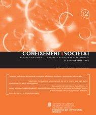 Coneixement i Societat núm. 12 - Generalitat de Catalunya