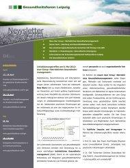 1. Newsletter 2012 - Gesundheitsforen Leipzig GmbH