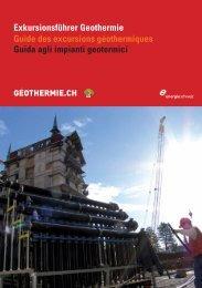 Exkursionsführer Geothermie Guide des excursions géothermiques ...