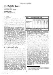 Der Markt für Zucker - German Journal of Agricultural Economics