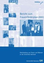 Bericht zum Frauenförderplan 2003 - Gleichstellungsbüro der ...