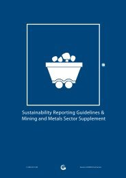 Mining and Metals Sector Supplement - Global Reporting Initiative