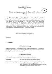 (WVS) vom 17.12.2001 in der Fassung vom 27.08.2008 - Gemeinde ...