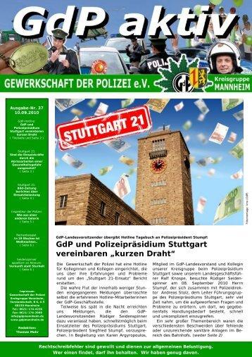 Publisher GdP aktiv 2010-09-10 - GdP Mannheim