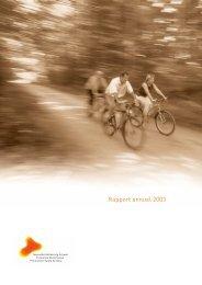 Rapport annuel 2003 - Gesundheitsförderung Schweiz