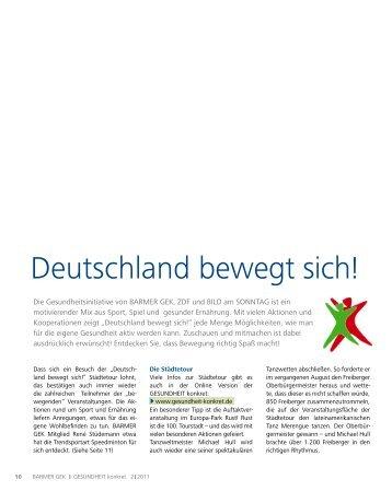 Deutschland bewegt sich! - Gesundheit konkret