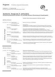 Programm Geothermie - Energie des 21. Jahrhunderts