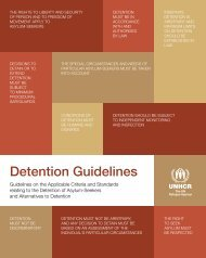 UNHCR Detention Guidelines - Refworld