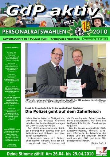 Publisher GdP aktiv 2010-04-19 - GdP Mannheim
