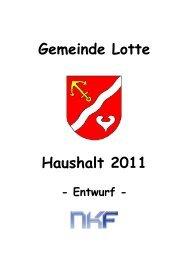 Teilergebnisplan 2011 - Gemeinde Lotte