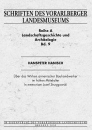 SCHRIFTEN DES VORARLBERGER LANDESMUSEUMS