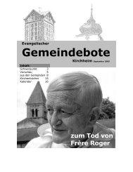 September 2005 - Gemeindebote