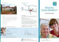 Klinikflyer Innere Klinik II - GLG Gesellschaft für Leben und ...