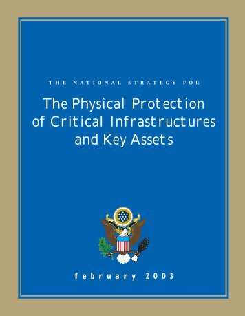 the Physical Protection of Critical Infrastructures and Key Assets