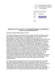 Waldbrände zur Zeit der Saurier - Geologischer Dienst NRW