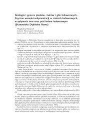Geologia i geneza piasków, żwirów i glin lodowcowych - fizyczne ...