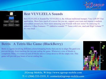 Best VUVUZELA Sounds Betris A Tetris like ... - Get Mobile game
