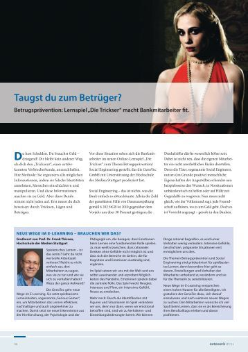 Taugst du zum Betrüger? - GenoTec GmbH