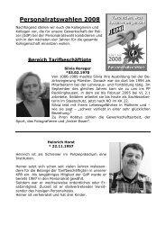 Personalratswahlen 2008 - (GdP) - Kreisgruppe Recklinghausen