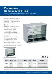 Pie Warmer Up to 50 & 100 Pies - GoHospitality