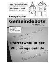 Januar 2010 (Sonderbote) - Gemeindebote
