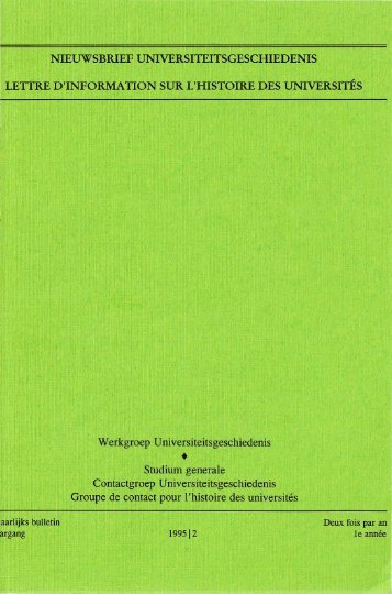 Jaargang / Année 1, 1995, nr. 2 - Gewina