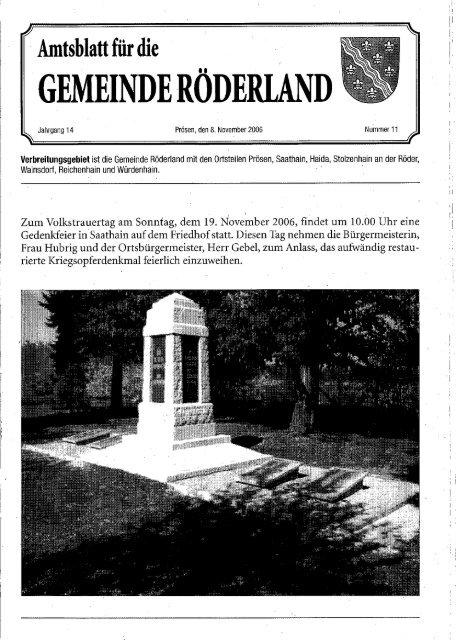 Nov - Gemeinde Röderland