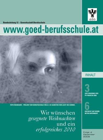 PV Wahl ErgEbnis za ÖstErrEich 2004 unD 2009 - Bundessektion ...