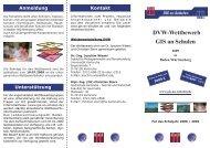 DVW-Wettbewerb GIS an Schulen - GeoBranchen