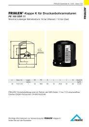 FRIALEN®-Kappe K für Druckanbohrarmaturen