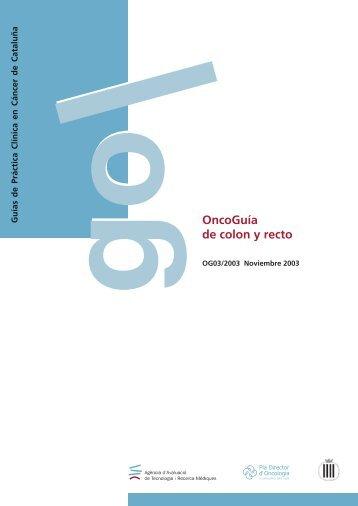 g OncoGuía de colon y recto - Generalitat de Catalunya