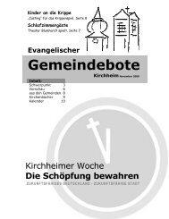 November 2009 - Gemeindebote
