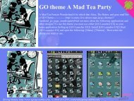 GO theme A Mad Tea Party - Get Mobile game