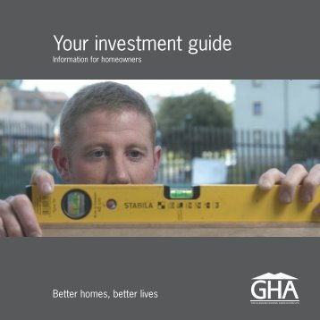 Your investment guide - Glasgow Housing Association