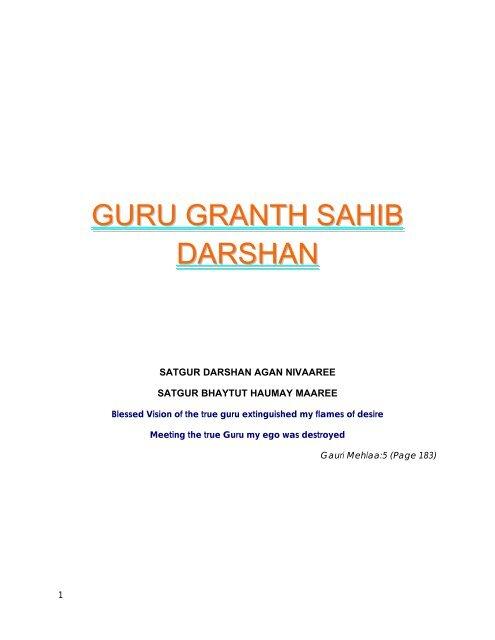 Guru Granth Sahib Darshan - Sikh Roots