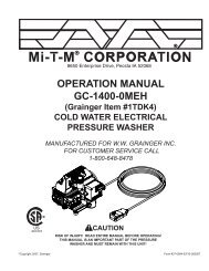 OPERATION MANUAL GC-1400-0MEH (Grainger Item #1TDK4)