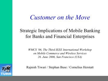Press information kit: Mobile Banking - The Mobile Prospects
