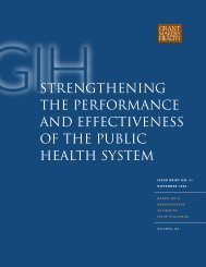 strengthening the performance and effectiveness of the public health ...