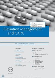 Deviation Management and CAPA - European Compliance Academy