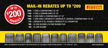 MAil-in rebAtes up to $200 - GM Canada