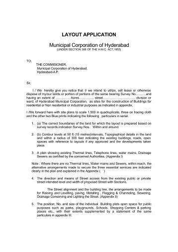 Layout Application - Greater Hyderabad Municipal Corporation