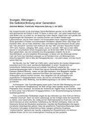 Irrungen, Wirrungen – Die Selbst(er)findung einer ... - Gerd Koenen