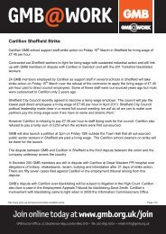 Carillion Sheffield Strike - GMB