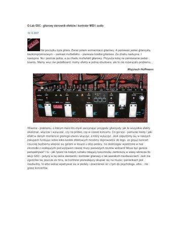 G-Lab GSC - gitarowy sterownik efektów i kontroler MIDI i audio