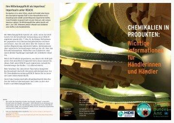 Chemikalien in Produkten - Umweltbundesamt
